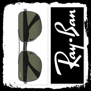 Ray-Ban RB3483 Gunmetal Back Sunglasses